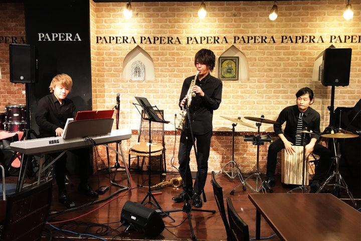 P-S-P(ピアノ、サックス、カホン)
