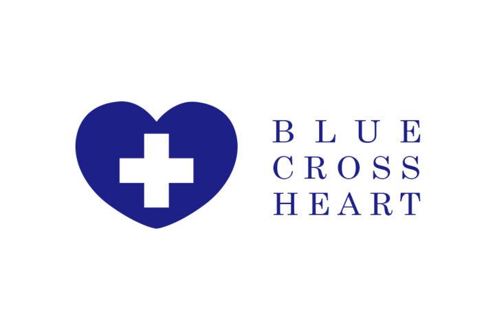 BLUE CROSS HEART/HAPPY MONOGRAM